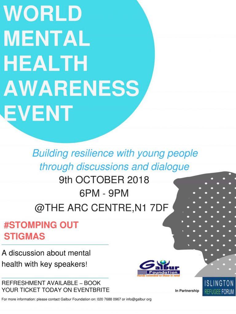 World Mental Health Awareness Event — Oct 2018